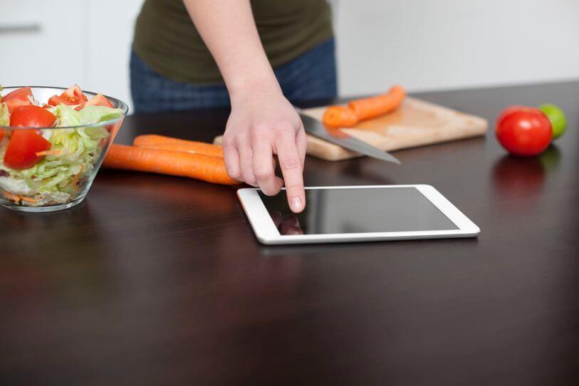 Tablettes pour cuisiner